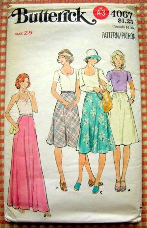 Vintage 70s Maxi Skirt Pattern Butterick 4067