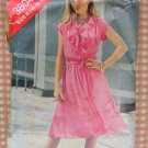 Vintage 80s Pattern Misses Mock Wrap Dress Butterick See & Sew 3804