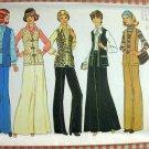 Women's Maxi Skirt, Vest and Pants Vintage 70s Pattern Simplicity 7226