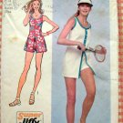 Misses Tennis Outfit Vintage 70s Pattern Simplicity 9966