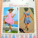 Girl's Summer Dress and Romper Sewing Pattern Simplicity 9573