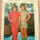 Butterick 4781 Children's Jumpsuit size 5 1970s Vintage Sewing Pattern