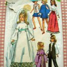 "70s 11.5""  Fashion Doll Wedding Clothes Simplicity Sewing Pattern 9097"