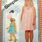 Girl&#39;s Pullover Sundress Vintage Sewing Pattern Simplicity 5504