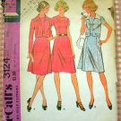 McCall's 3124 Princess Seamed Dress and Jacket  Vintage 70s Sewing Pattern