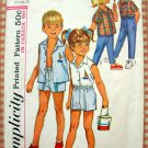 Child's Unisex Shirts, Shorts, Pants Simplicity 5984 Vintage Sewing Pattern Size 4