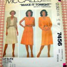 McCall's 7456 Sleeveless Dress and Jacket Vintage 80s Sewing Pattern