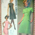 Mandarin Collar Dress, Tunic and Pants Vintage 70s Pattern Simplicity 9158