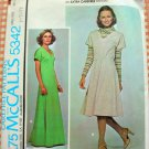 McCall's 5342 Plus Size Stretch Knit Maxi Dress Vintage 70s Sewing Pattern