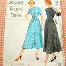 Misses Skirt and Fitted Jacket Vintage 40s Sewing Pattern Simplicity 8179