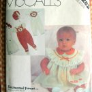 McCall's 2282 Infants Enchanted Forest  Dress Jumpsuit Blouse Panties Bonnet Sewing Pattern