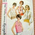 Misses' Blouse Vintage 60's Pattern Simplicity 5441