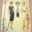 Misses' Dress Vintage 60's Pattern Simplicity 4429