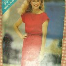 Vintage 80s Pattern Misses Belted Dress Butterick See & Sew 3017