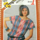 Misses Pullover Top 80s Vintage Sewing Pattern Simplicity 6516