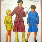 Boys Size 12 Bathrobe vintage 70s sewing pattern Simplicity 9635