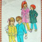 Childs Size 6 Robe and Pajamas Vintage 70s Sewing Pattern Simplicity 5103