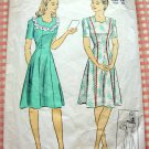 Misses 1940s WW II Era Dress Vintage Sewing Pattern DuBarry 5612