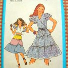 Wrap Crop Top and Tiered Skirt  Vintage 70s Sewing Pattern Simplicity 8545 Bust 33.5