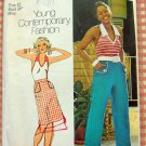 Misses Halter, Skirt and High-Waisted  Pants Vintage 70s Pattern Simplicity 6462