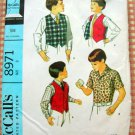 Boys Shirt and Buttonfront Vest McCall's 8971 Vintage Sewing Pattern