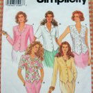 Misses Shirt and Vest Vintage 90s Pattern Simplicity 8845