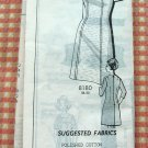 Plus Sized Dress Vintage 70s Mail Order Sewing Pattern 8180
