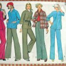 Misses Shirt-Jacket and Wide-Leg Pants Vintage 70s Pattern Simplicity 6578
