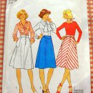 Bias Cut Skirt  Vintage Seventies Sewing Pattern Simplicity 7496