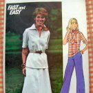 Butterick 4696 Plus Size Women's Sewing Pattern Top, Skirt & Pants Vintage 70s