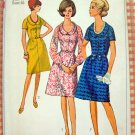 Simplicity 6510 Woman's Plus Size Fitted Bodice Dress Vintage 60's Sewing Pattern