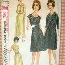 Woman's Plus Size Formal Evening Dress Simplicity 6243 Vintage 60's Sewing Pattern