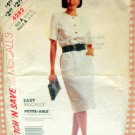 Misses 80s Dress McCall's 4282 Vintage Sewing Pattern