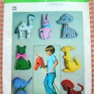 Stuffed Animals Vintage 70s Sewing Pattern Simplicity 7744