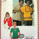 Girl's or Boy's Pullover Tops Vintage 70s Sewing Pattern Simplicity 7996