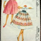 50s Bouffant Skirt Vintage Sewing Pattern McCalls 5296