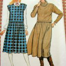 Vintage 80s Pattern Misses Dress and Jumper Butterick 6238