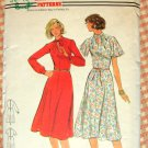 Butterick 5417 Plus Size Women's Vintage 70s Sewing Pattern Fitted Dress