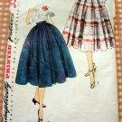 50s Bouffant Skirt an Cummerbund  Vintage Sewing Pattern Simplicity 3841