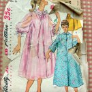 50s Misses' Duster, Negligee and Housecoat Vintage Sewing Pattern Simplicity 4972