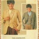 Vintage 1970s Butterick Sewing Pattern 3924  Misses Menswear Jacket and Vest