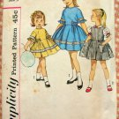 Girl's Bouffant Party  Dress Vintage 50s Sewing Pattern Simplicity 4289