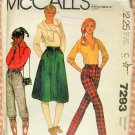 Knickers, Skirt and Pants 80s Vintage Sewing Pattern McCalls 7293