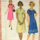 Plus Size 70s A-Line Dress Vintage Sewing Pattern Simplicity 5094