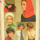 Beret, Hood, Ascot or Sash Vintage 60s Sewing Pattern Simplicity 7872