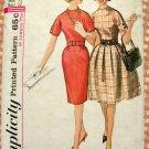 Misses' 60s Full or Slim Dress Vintage Sewing Pattern Simplicity 5023