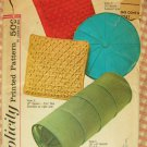 Throw Pillows Vintage 50s Sewing Pattern Simplicity 4515