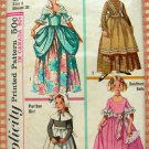Girls&#39; Colonial, Puritan, Southern Belle, Frontier Costumes Vintage Sewing Pattern Simplicity 6205