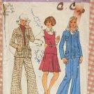 Misses Menswear Separates Vintage 70s Sewing Pattern Simplicity 5856