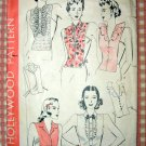 Misses' Shirt Dickeys Vintage 40s Hollywood Sewing Pattern 1085